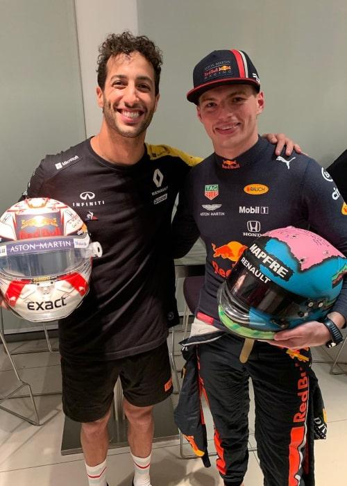 Daniel Ricciardo and Max Verstappen, as seen in an Instagram Post in December 2019