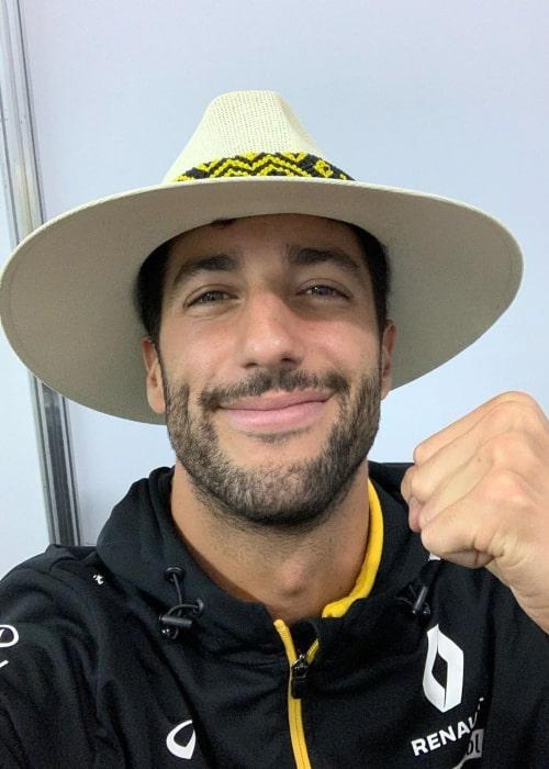 Daniel Ricciardo as seen in an Instagram Post in October 2019