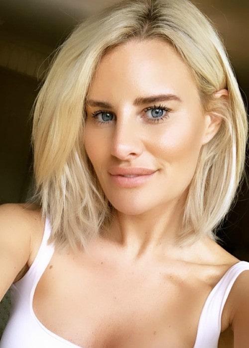 Danielle Armstrong in an Instagram selfie as seen in May 2019