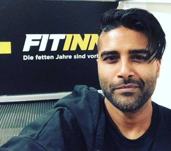 Dave Baksh as seen while taking a selfie at Hollywood Megaplex Gasometer in Vienna, Austria in January 2020