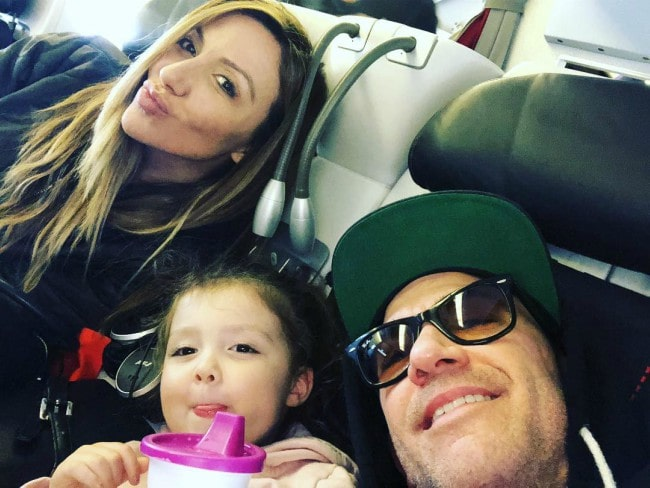 David Faustino in a selfie with his family as seen in April 2019