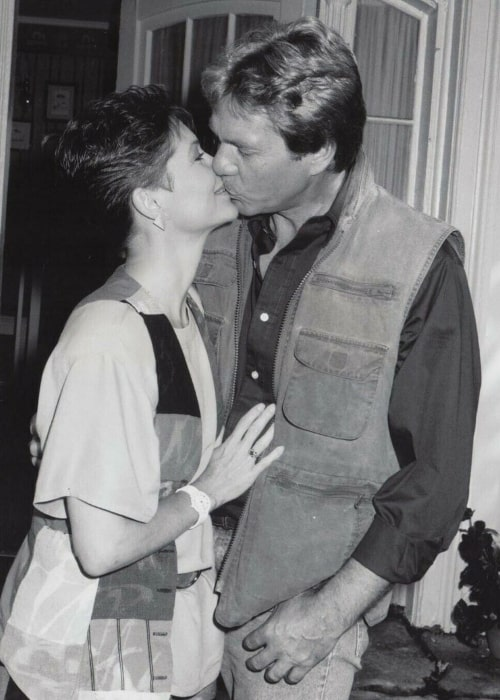 Dee Wallace as seen in a picture taken while sharing a romantic moment with her late husband actor Christopher Stone in the past
