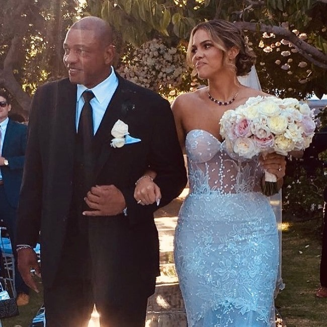 Doc Rivers with his daughter as seen in September 2019