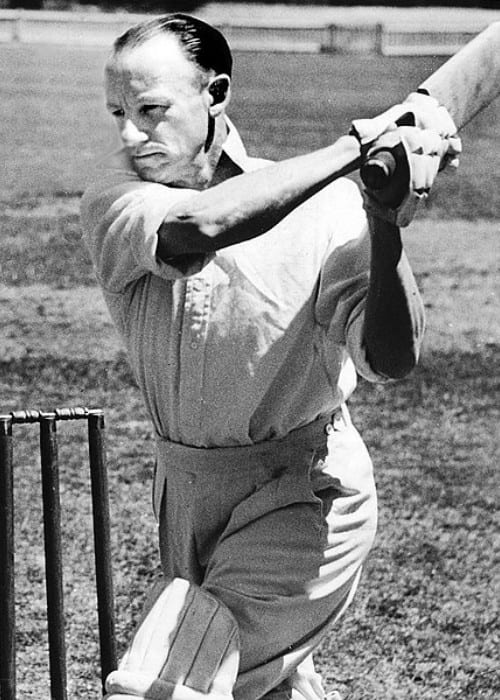 Don Bradman during a match as seen in 1946