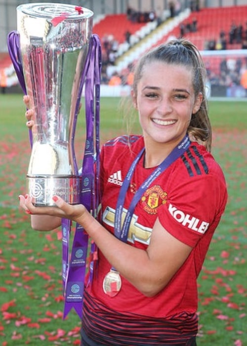 Ella Toone after winning the 2018-19 FA Women's Championship with Manchester United, in May 2019