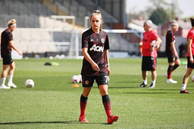 Ella Toone during a Manchester United training session in June 2019