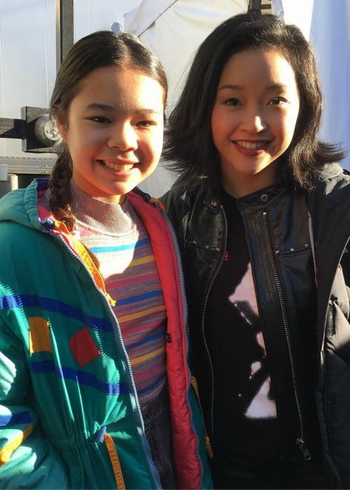 Emily Delahunty (Left) and Lana Condor as seen in March 2019