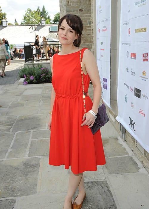 Emily Hampshire at the 2012 Toronto International Film Festival