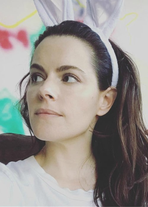 Emily Hampshire in an Instagram post as seen in April 2019