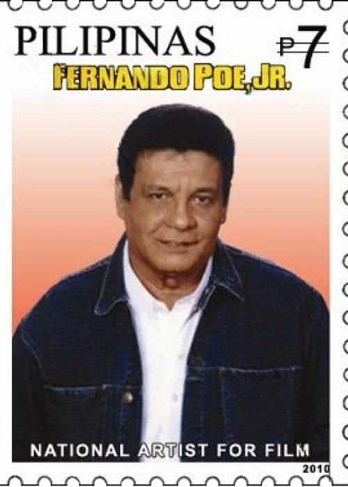 Fernando Poe Jr. in a 2010 postage stamp
