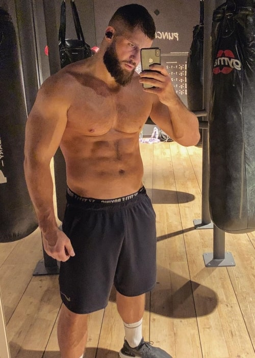 Florian Munteanu as seen in a selfie taken during his training in January 2020