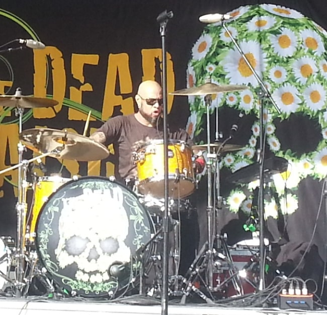 Frank Ferrer performing with The Dead Daisies at Uproar Festival 2013