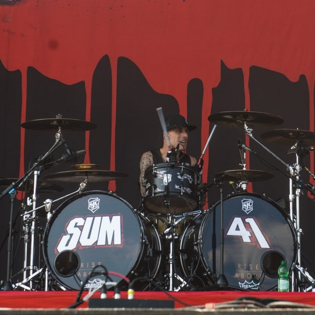 Frank Zummo as seen in a picture taken during the Rock im Park 2017 concert on the Zepplin Stage on June 2