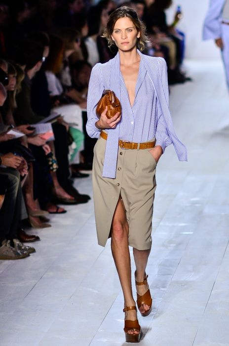 Frankie Rayder walking the runway at the Michael Kors Spring Summer 2014 show