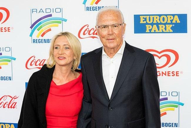 Franz Beckenbauer and Heidi Beckenbauer as seen in April 2019