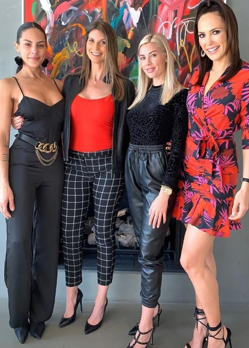 From Left to Right - Amanza Smith, Maya Vander, Heather Rae Young, and Davina Potratz as seen while posing for the camera in West Hollywood, California, United States in December 2019