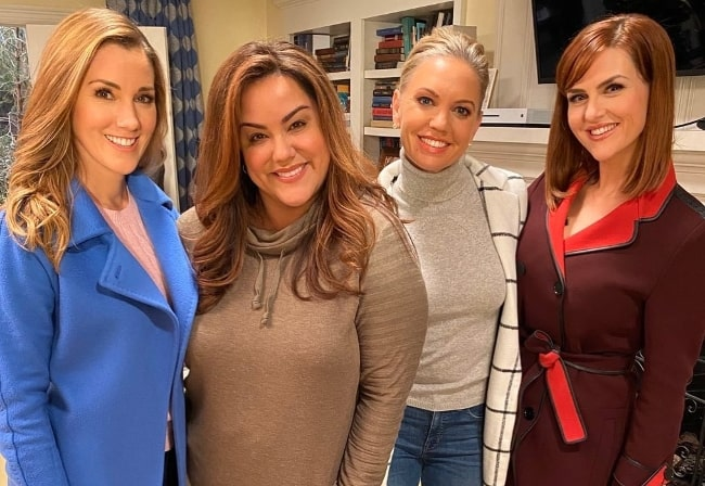 From Left to Right - Carly Craig, Katy Mixon, Barret Swatek, and Sara Rue posing for a picture in January 2020