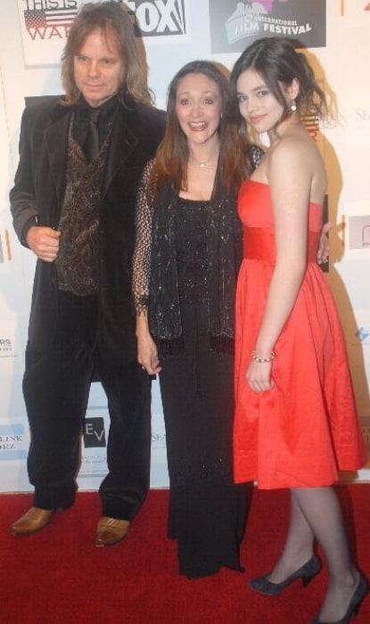 From Left to Right - David Eisley, Olivia Hussey, and India Eisley at Cinema City Film Festival in March 2008