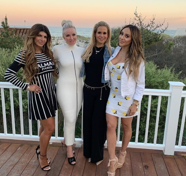 From Left to Right - Teresa Giudice, Margaret Josephs, Jackie Mark Goldschneider, and Melissa Gorga as seen while posing for a picture at the Hamptons in New York in January 2020
