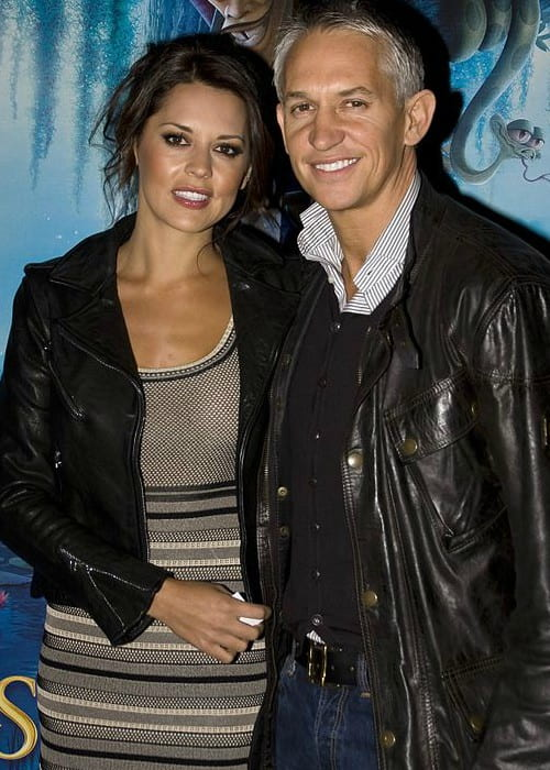 Gary Lineker and Danielle Bux as seen in January 2010