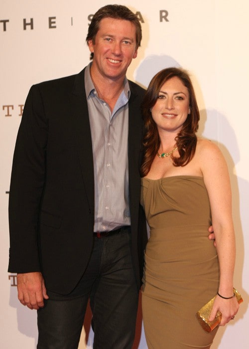 Glenn McGrath and Sara Leonardi during an event in October 2011