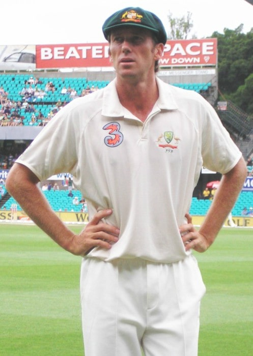 Glenn McGrath during a match as seen in January 2006