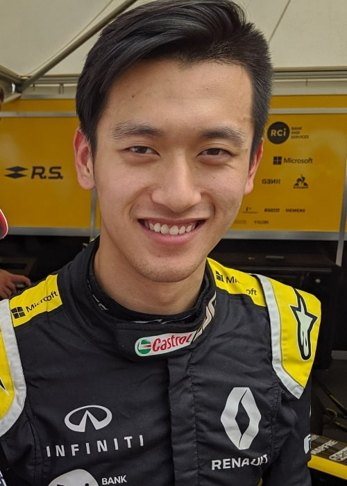 Guanyu Zhou as seen in a picture taken at the 2019 Goodwood Festival of Speed on July 5, 2019