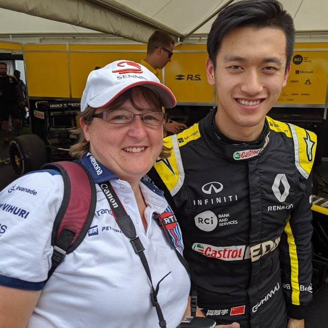 Guanyu Zhou as seen in a picture taken with photographer Jen Ross at the 2019 Goodwood Festival of Speed