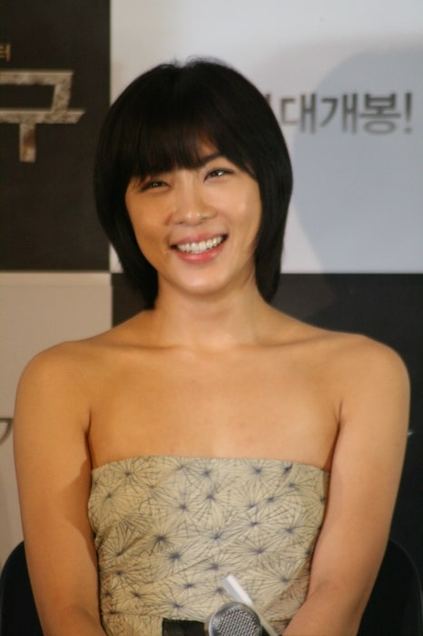 Ha Ji-won as seen while smiling in a picture during an event in July 2006