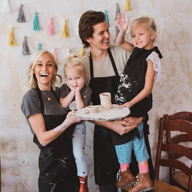 Hailey Devine with her family as seen in January 2020