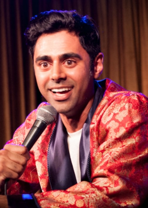 Hasan Minhaj as seen while speaking during an event in August 2013