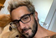 Jack Barakat with his pet dog