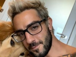 Jack Barakat with his pet dog