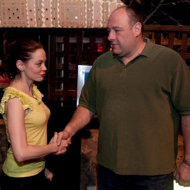 James Gandolfini as seen in a picture taken with actress Rose McGowan on March 31, 2010