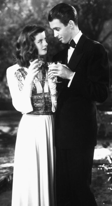 James Stewart as seen with Katharine Hepburn in 'The Philadelphia Story'