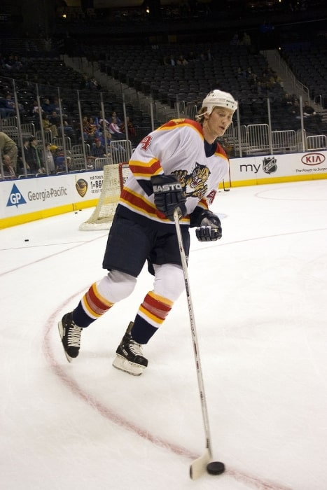 Jay Bouwmeester with the Florida Panthers in 2005