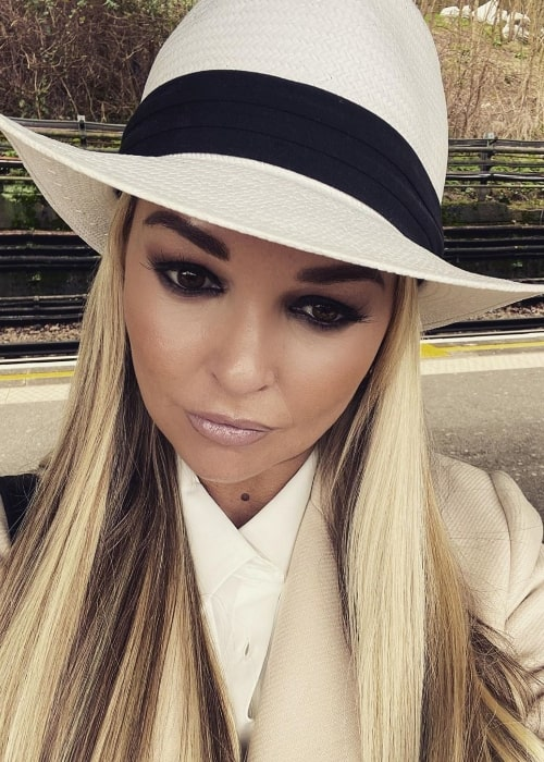 Jennifer Ellison as seen while taking a selfie in London Borough of Ealing in England, United Kingdom in February 2019