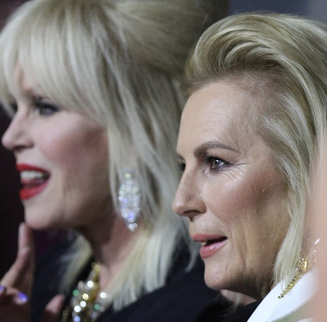 Jennifer Saunders (Right) and Joanna Lumley as seen at the Australian premiere of 'Absolutely Fabulous' in July 2016