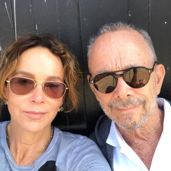 Jennifer seen with her dad Joel Grey in September 2017
