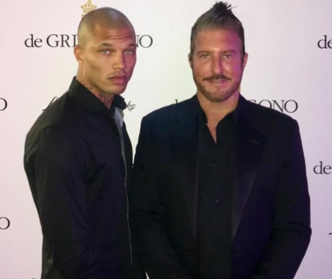 Jeremy Meeks (Left) and Jim Jordan posing for the camera at Cannes Film Festival 2017