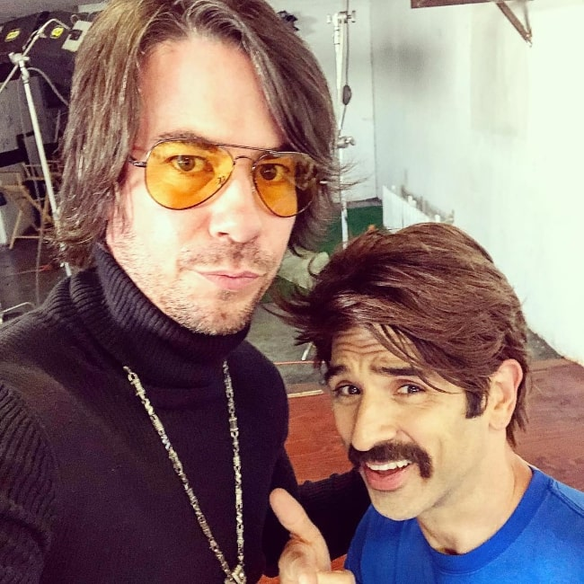 Jerry Trainor (Left) as seen while taking a selfie along with Perry Sachs in November 2017