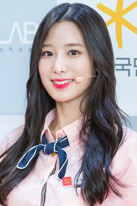 Johyun as seen while smiling in a picture taken at LBMA Star Awards 2017
