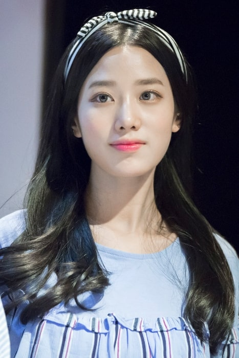 Johyun pictured at 'Berry Good' 3 years anniversary fanmeeting on May 21, 2017