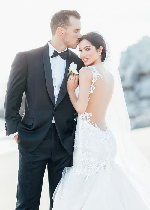 Jonelle Filigno and Russell Hopkins at their wedding in December 2016
