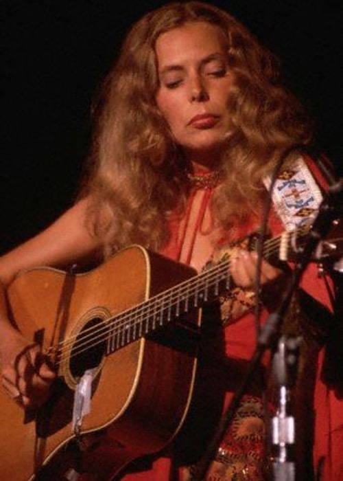 Joni Mitchell as seen in a picture taken in August 1974 in Los Angeles, California