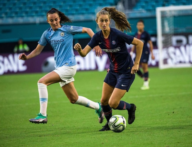 Jordyn Huitema during a match for French club PSG in May 2019