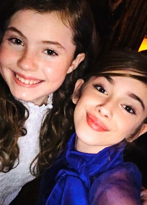 Julia Butters as seen in a selfie taken with actress Darby Camp at the Entertainment Weekly party in January 2020