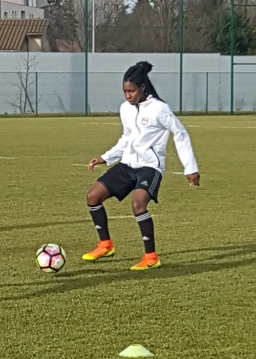 Kadeisha Buchanan as seen in a picture taken during training on February 4, 2017