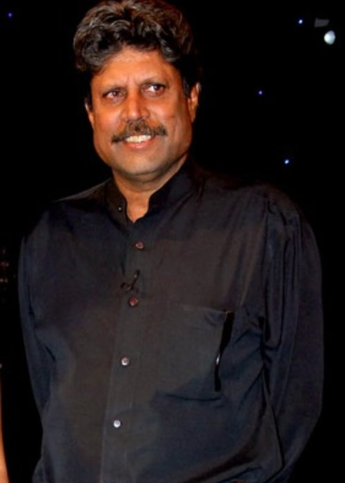 Kapil Dev as seen in a picture taken at Aajtak for a cricket show in the past