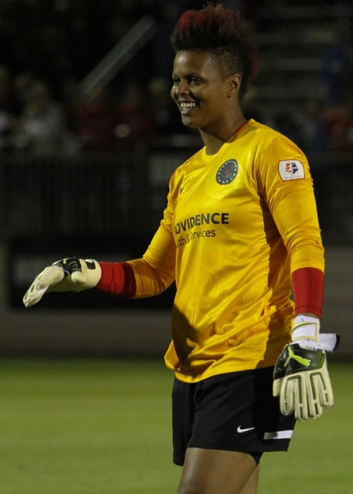 Karina LeBlanc as seen in a picture taken on June 4, 2013